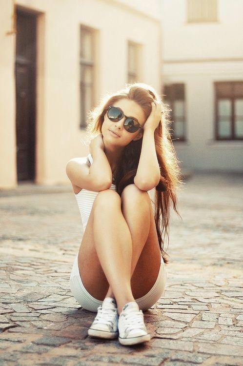 Tự tin là điều không thiếu trong từ điển của những cô nàng chân dài