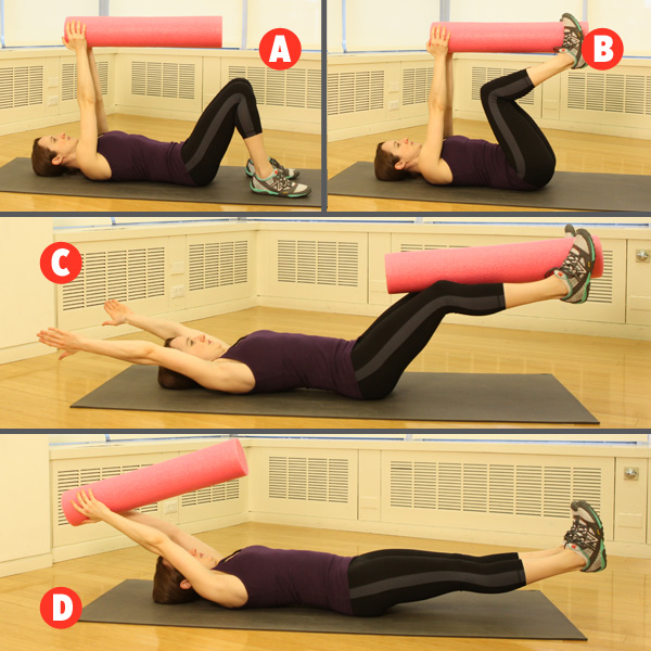 Bài tập luân chuyển cuốn thảm yoga