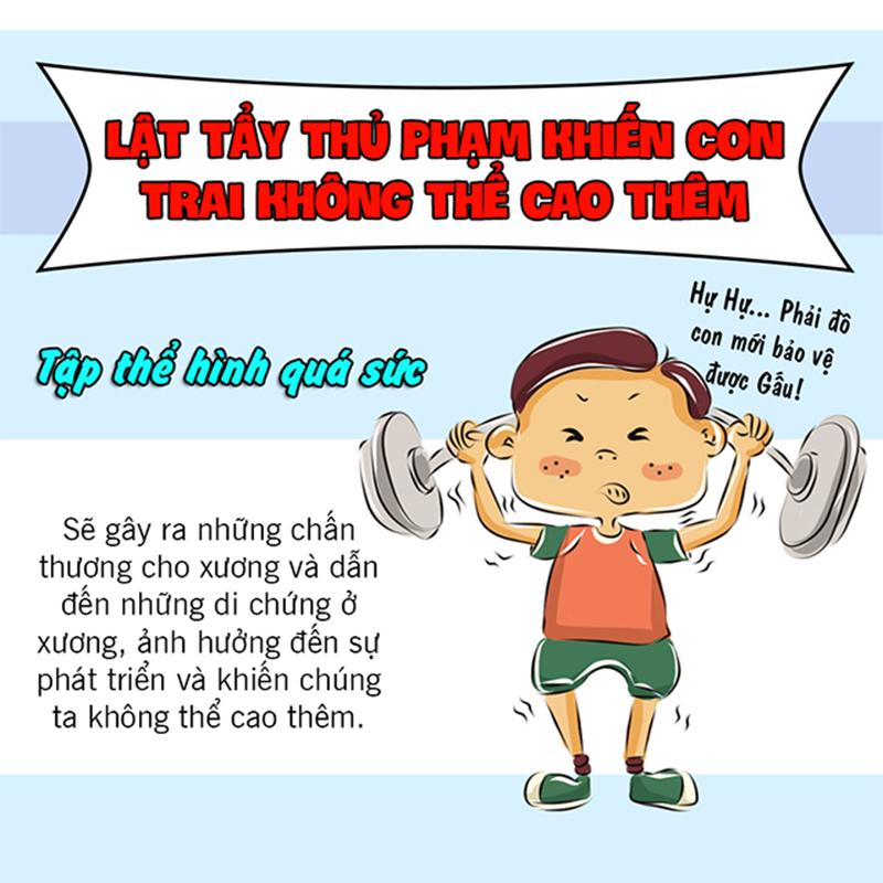 7 lý do khiến con trai không thể cao thêm