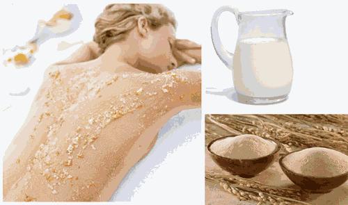 Có thể dưỡng trắng toàn thân với cám gạo và sữa tươi