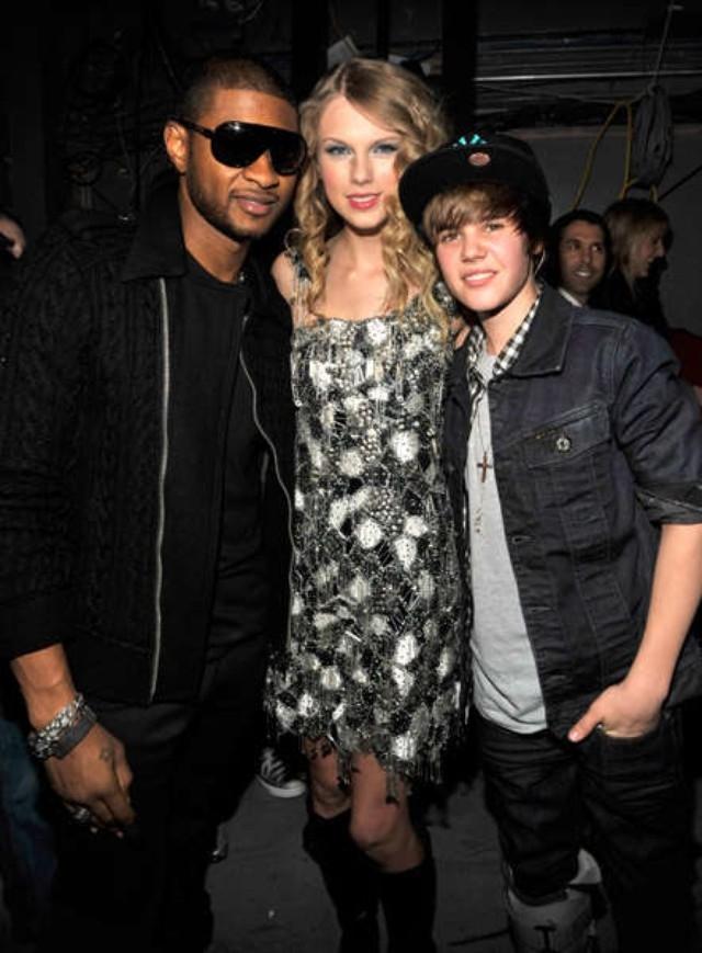 Taylor vẫn nhỉnh hơn thậm chí Usher cao đến 1m75