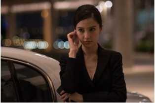 Angelababy  duyên dáng trong một cảnh quay phim Hitman: Agent 47