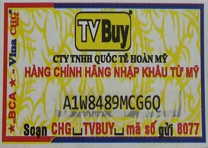 Hiện nay đã xuất hiện 1 số tổ chức, cá nhân rao bán các sản phẩm mà TVBuy đang phân phối độc quyền