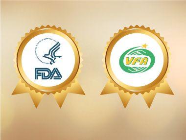 Chứng nhận Bộ Y Tế và FDA Hoa Kỳ