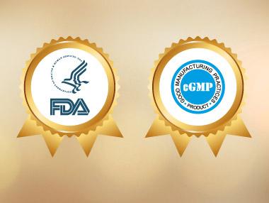 Chứng nhận FDA Hoa Kỳ và cGMP