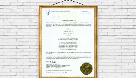 Chứng nhận FDA Hoa Kỳ cho sản phẩm NUTRIP GOLD