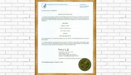 NuBest Tall đã được FDA Hoa Kỳ cấp chứng nhận lưu hành tự do tại Mỹ
