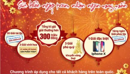 Mua sắm cùng TVBUY: Sức khỏe ngập tràn - Nhận ngàn may mắn