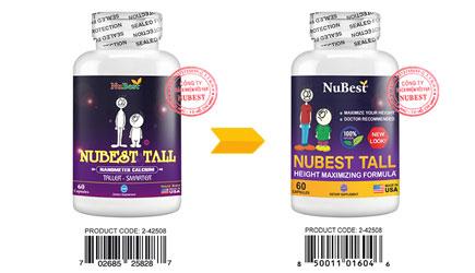 Thông báo: NuBest Tall đổi nhãn chai theo quy định mới của FDA Hoa Kỳ