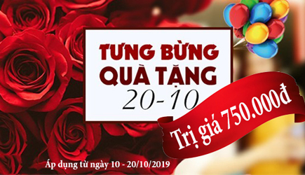Tưng bừng khuyến mãi chào mừng ngày Phụ Nữ Việt Nam