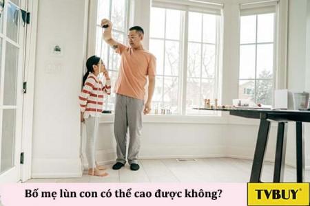 """Bố & Mẹ """"lùn"""" con có thể cao không?"""