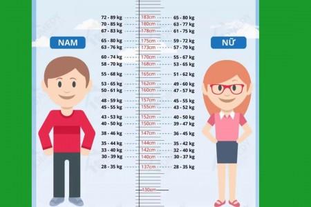 © Bảng Chiều Cao Cân Nặng Chuẩn Theo Từng Độ Tuổi [2020]
