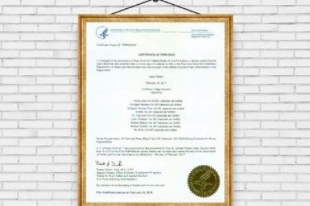TPBVSK Nutrip Gold đã được FDA Hoa Kỳ cấp chứng nhận lưu hành tự do tại Mỹ