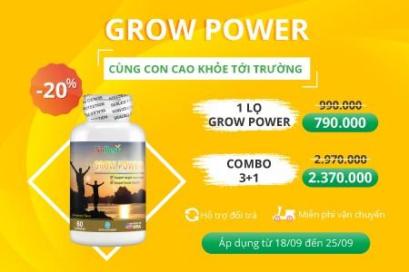 ƯU ĐÃI THÁNG 9 - CÙNG GROW POWER GIÚP CON CAO KHỎE ĐẾN TRƯỜNG