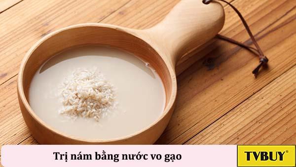 trị nám bằng nha dam và nước vo gạo