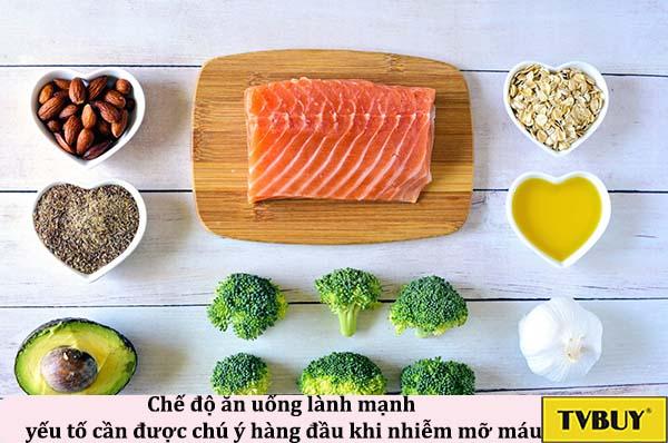 Đới với những người bị mỡ máu, chế độ ăn uống lành mạnh là yếu tố cần được chú ý hàng đầu.