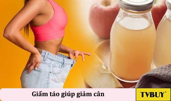 giấm táo hỗ trợ giảm cân