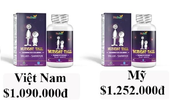 giá 1 hộp nubest tall là 1090000 vnd tại thị trường việt nam