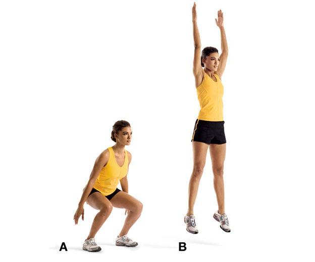 bài tập gym bật nhảy tại chỗ giúp tăng chiều cao