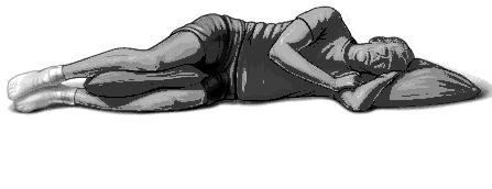Nằm nghiêng người để xương nằm trên một đường thẳng