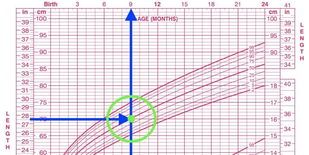 cách sử dụng biểu đồ tăng trưởng bước 1