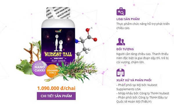 uống nubest tall có hiệu quả không ?