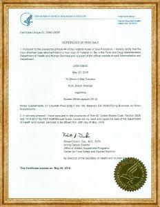 FDA Hoa Kỳ - Viên uống trắng da Nubest White