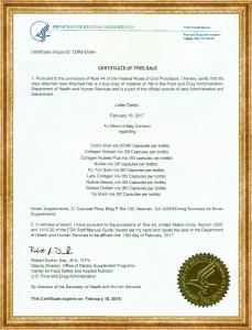 Chứng nhận FDA Hoa Kỳ - NUTRIP GOLD