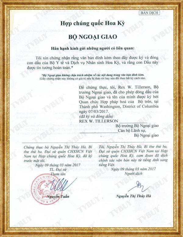 bản dịch fda của việt nam