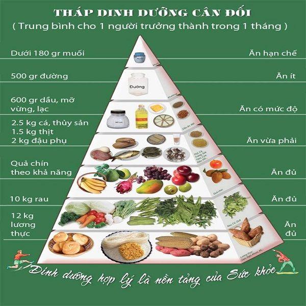 tháp cân bằng dinh dưỡng