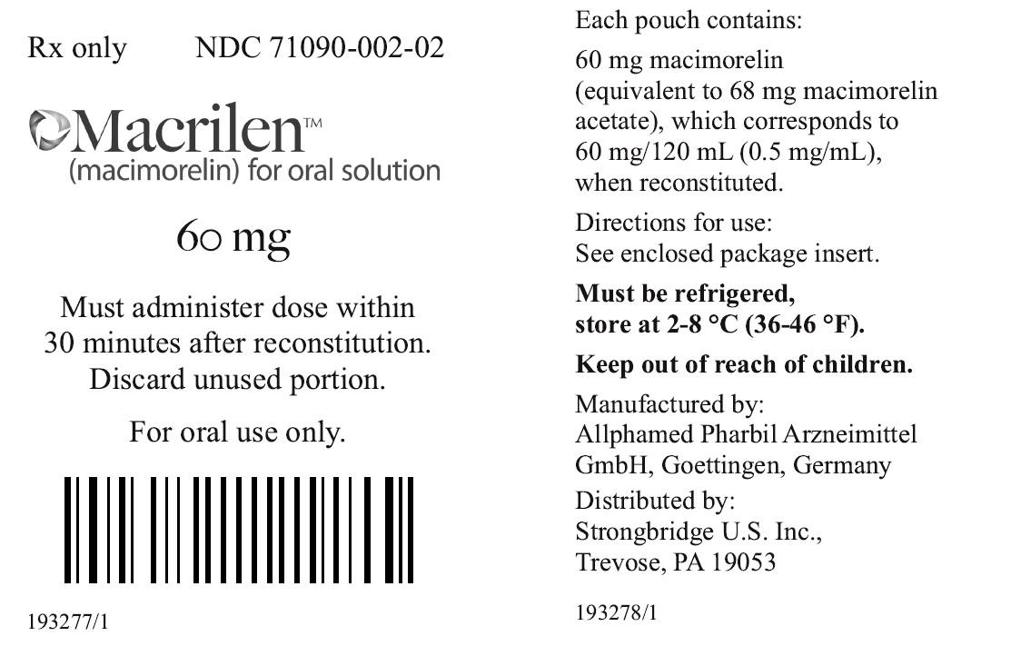 thuốc tăng chiều cao macimorelin dùng để điều trị tình trạng thiếu hụt hocmonre