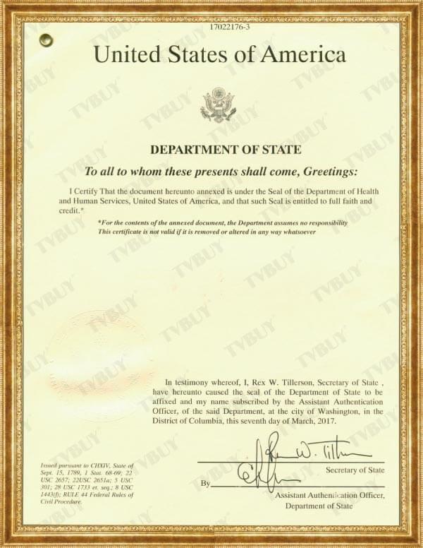 chứng nhận FDA của TPBVSK Nutrip Gold