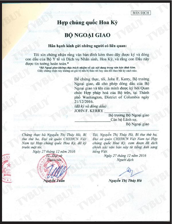 giấy chứng nhận fda dành cho sản phẩm của nubest tall