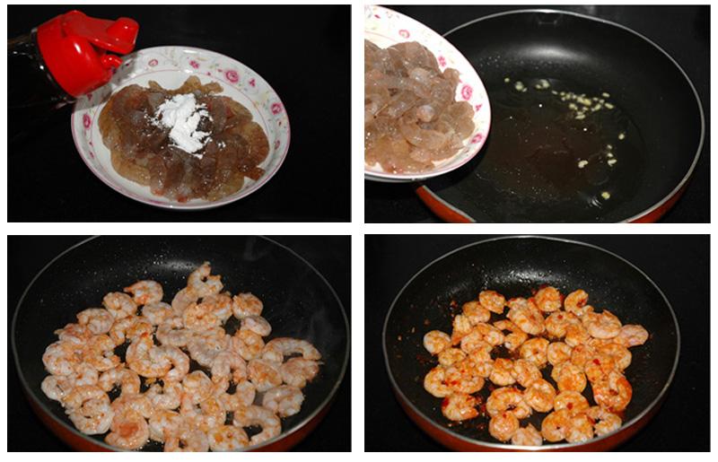 Món tôm rim sa tế cay, giàu canxi hỗ trợ tăng chiều cao 02
