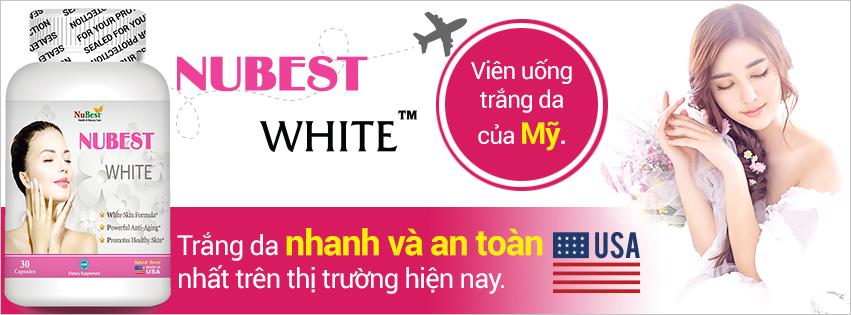 Viên uống trắng da hàng đầu từ Mỹ - NUBEST WHITE