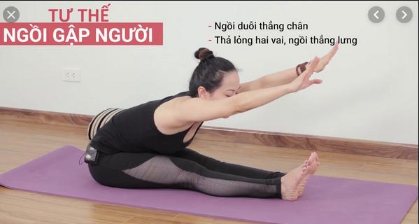 Bài tập tư thế yoga ngồi duỗi chân