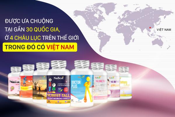 Các dòng sản phẩm thuộc thương hiệu NuBest hiện đang được TVBUY phân phối độc quyền