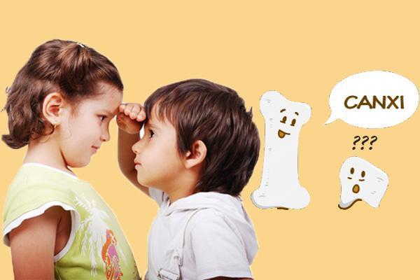 vài trò của canxi với sự phát triển chiều cao của trẻ