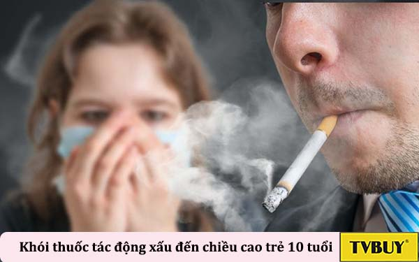 khói thuốc gây tác động xấu đến phát triển ở trẻ