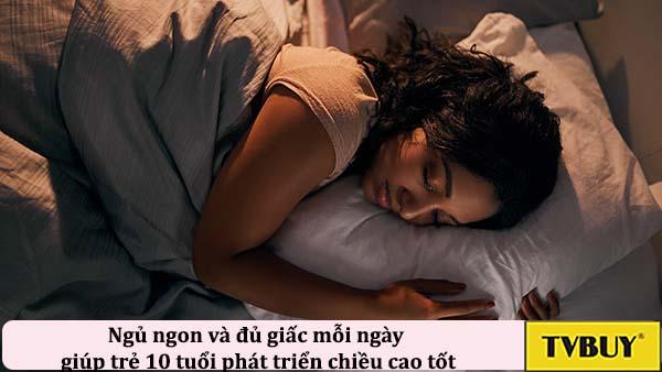 ngủ ngon và đủ giấc mỗi ngày