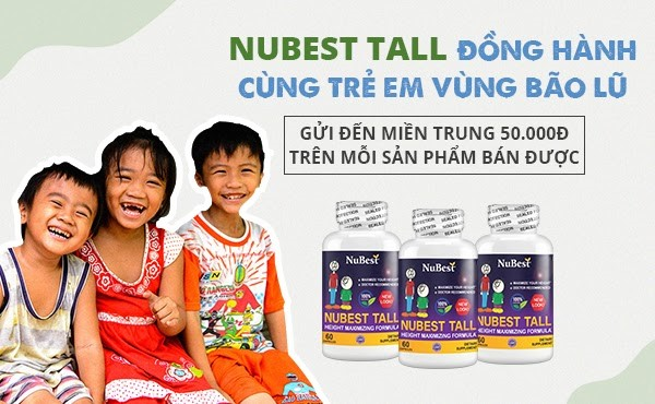 NuBest Tall - Gom yêu thương gửi đến miền Trung