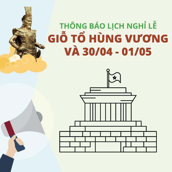 TVBUY thông báo nghỉ lễ dịp giỗ tổ Hùng Vương và Đại lễ 30/04, 01/05