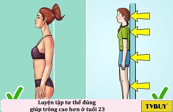 tư thế đúng giúp tăng chiều cao tuổi 23